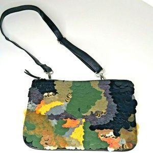 Zara Camo Sequin Crossbody & Belt Bag